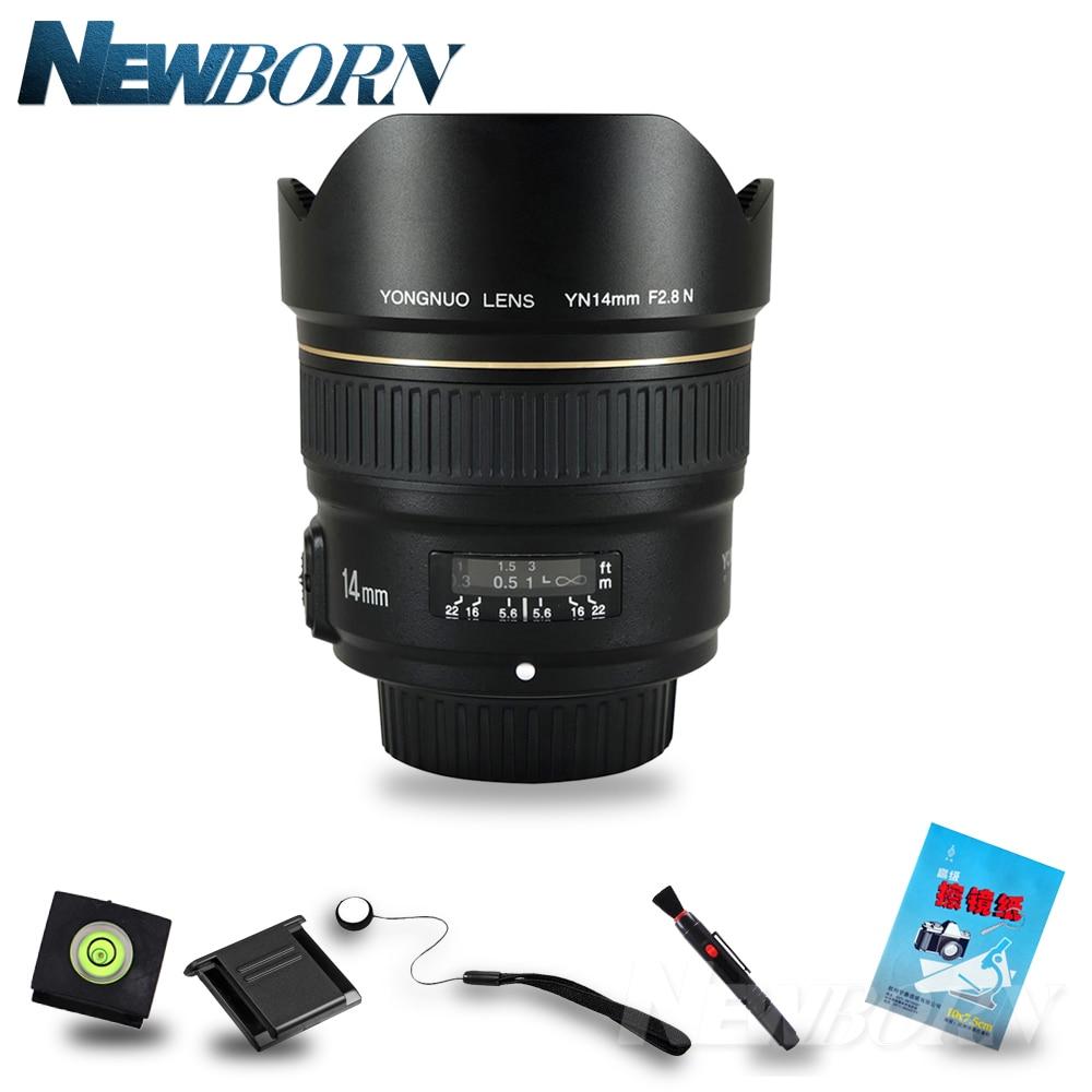 YONGNUO 14mm Ultra-wide Angle Prime Lens YN14mm F2.8N Auto Focus Metal Mount for Nikon D850 D750 D810 D800E D5 D4S D850A D4 D1X meike mk d750 battery grip pack for nikon d750 dslr camera replacement mb d16 as en el15 battery
