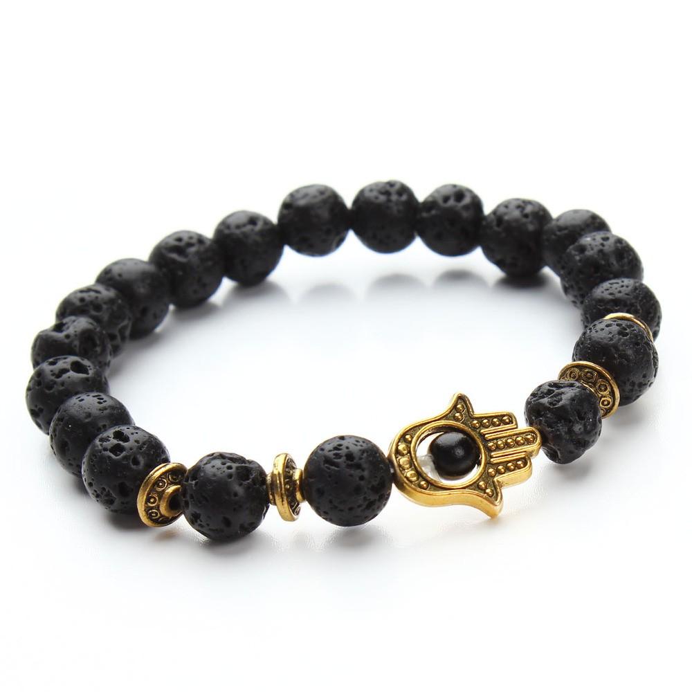 1-pcs-Nature-8mm-Black-Lava-Energy-Stone-Beads-Bracelet-Gold-Hamsa-Hand-Charm-Bracelet-Yoga (4)