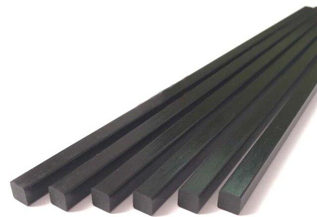 Carbon Fiber Rods >> 3mm 3mm 1000mm L Carbon Fiber Square Solid Rod In Parts
