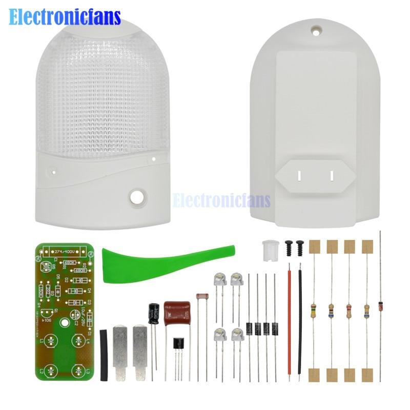 DIY Kit LED Light Control Night-Light Photosensitive Sensor CON-L Nightlight Electronic Production Suite Electronic 1W 220V
