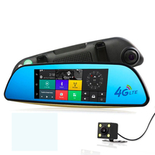 Android Car DVR ADAS 4G Dash Cam GPS Navigation Car Rear view mirror With Two Camera Supports Bluetooth WiFi Remote control