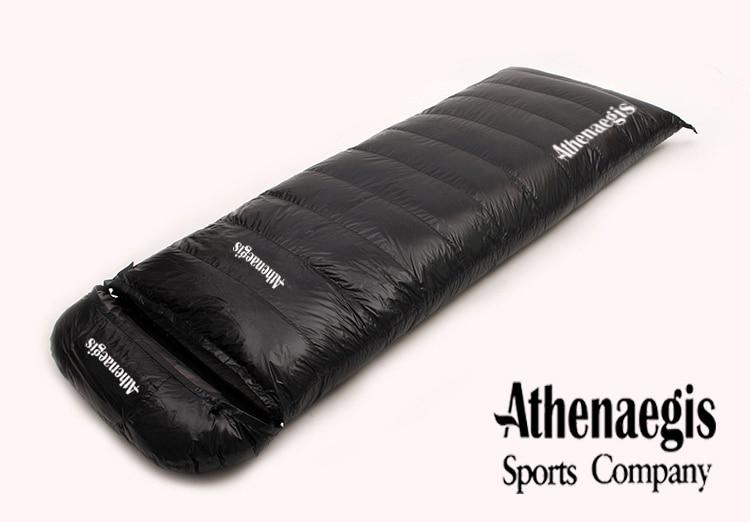 Ultra lagani bijeli gusji dolje 2200g / 2500g / 2800g / 3000g punjenje može biti spojena omotnica za odrasle prozračne zadebljane vreće za spavanje