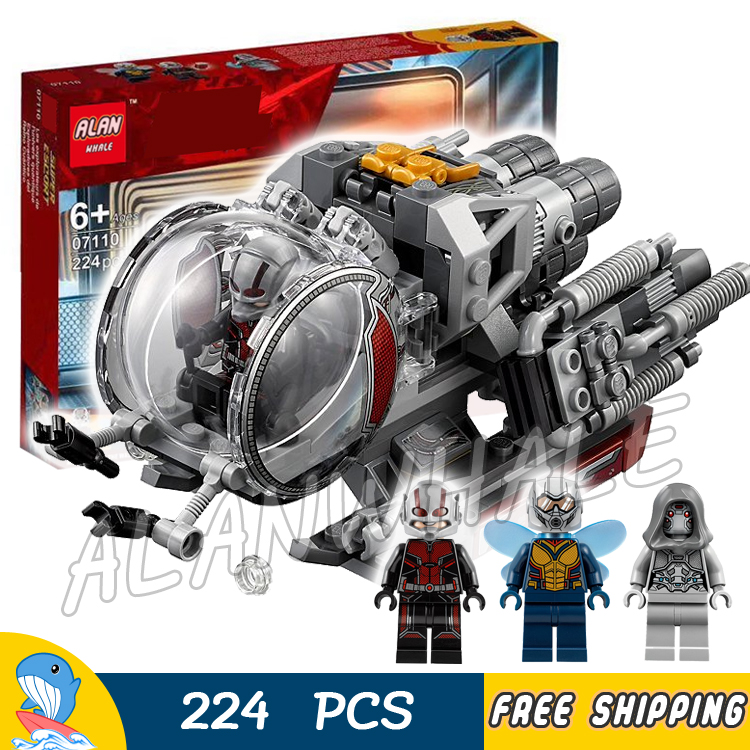 Blocks Rational 224pcs Super Heroes Ant-man Quantum Realm Explorers Wasp Ghost Vehicle 07110 Model Building Block Toy Brick Compatible With Lego Toys & Hobbies