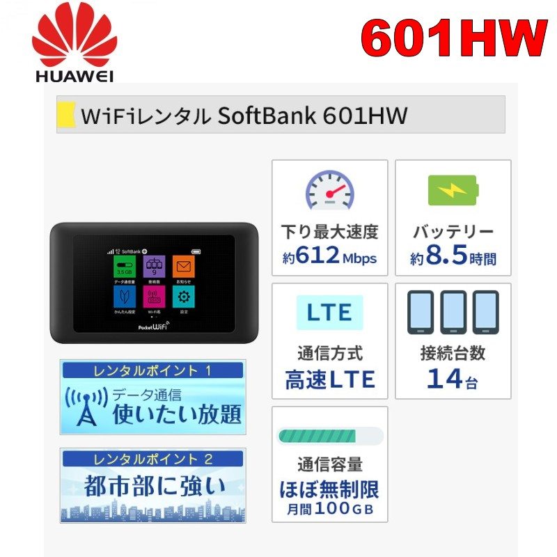 Huawei Pocket WiFi 601HW 602HW 612Mbps Send randomly