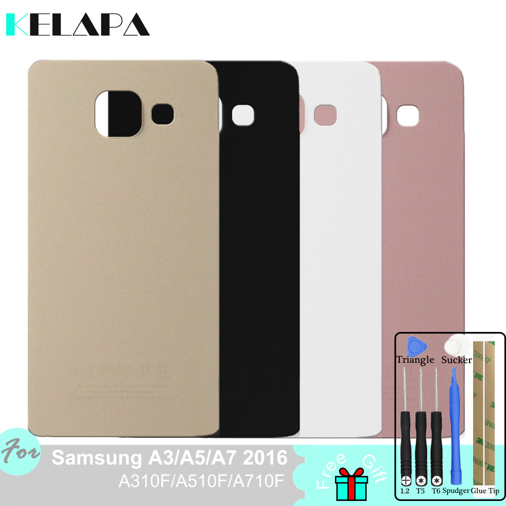 Brand New Battery Cover For <font><b>Samsung</b></font> Galaxy A3 A5 A7 A9 2016 A310F <font><b>A510F</b></font> A710F A910F Back Cover image