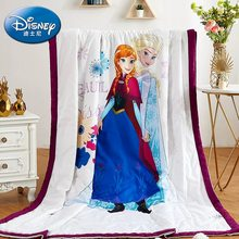 disney summer quilt comforter for kids girls bedroom Frozen Elsa and Anna 200*230 120*150 polyester bedding lady home decoration(China)