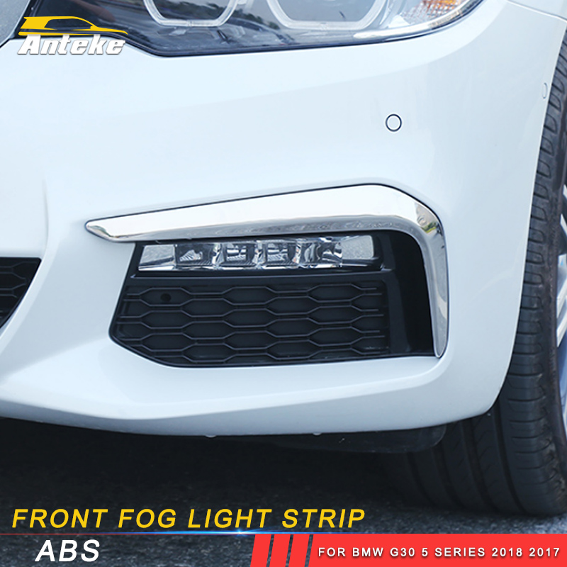 ANTEKE Auto Car Front fog light strip sticker accessories For BMW G30 5 series 2018