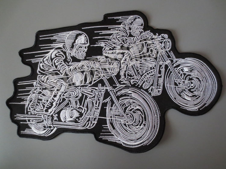 Speed ​​Hurricane Rider 11.8 inches Broderi Patches for Jakke Ryggvest Motorsykkel Club Biker 30cm * 20cm
