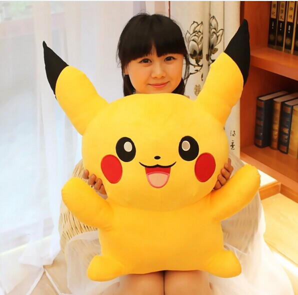 ФОТО free shipping large about 80cm Pokemon Pikachu plush toy doll, birthday gift w5386
