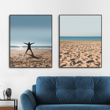 Beach Seascape Nordic Wall Pictures Art Poster Print Canvas Painting Calligraphy Decorative Picture for Living Room Home Decor