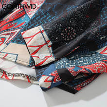 GONTHWID Japanese Ukiyo E Geometry Patchwork Long Sleeve Shirts 2018 Hip Hop Casual Streetwear Shirts Men Women Fashion Tops