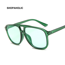 Vintage Oversized Square Sunglasses Women Brand Designer Retro Sunglass Rectangle Sun Glasses Female Candy Color Eyewears