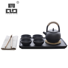 TANGPIN coffee and tea set ceramic teapot with 4 cups chinese kung fu tea set tangpin coffee and tea tools ceramic kyusu tea pitchers infusers chinese kung fu tea accessories
