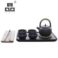 TANGPIN kawy i herbaty zestaw dzbanek ceramiczny z 4 kubki chiński kung fu zestaw herbaty w Zest. naczyń do herbaty od Dom i ogród na