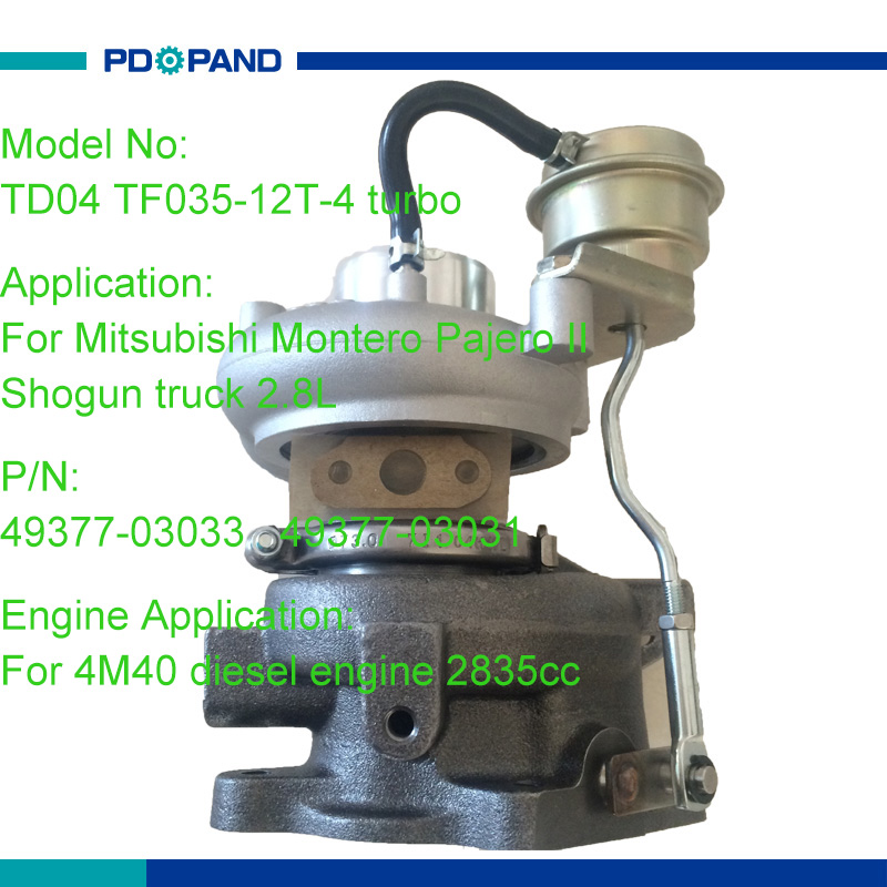 Auto Turbo Part Td04 Turbocompressor 4937703033 4937703031