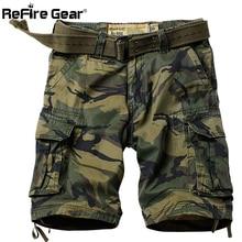 ReFire gear военные Маскировочные шорты мужские много карманов армейские карго шорты летние повседневные свободные хлопковые камуфляжные тактические шорты 29-42
