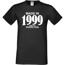 Made In 1999 Aged To Perfection T-Shirt Mens Womens Funny Birthday Gift 18th T Shirt Cotton Men Short Sleeve Tee Shirts