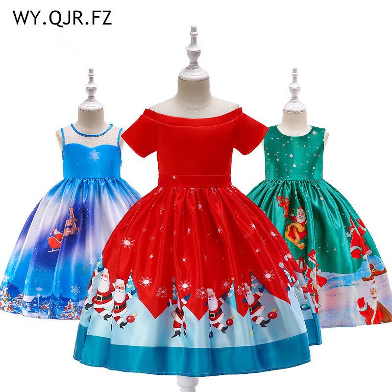 MKTZ#  Flower     Girl     Dresses   printing short wedding party   dress   gowm prom   girl   children's wear   dresses   wholesale cheap clothing