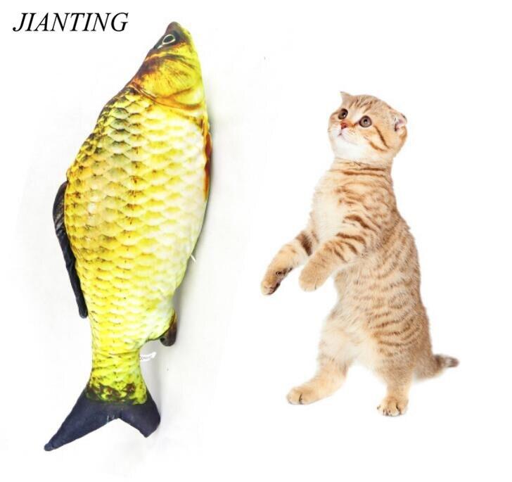 dfafb352c2f84 Poissons En Peluche pour animaux de compagnie chat chiot jouet pour dormir  creative pet chat à mâcher jouet pour chat menthe poivrée en peluche  poissons ...