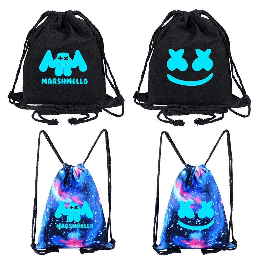 Cool Canvas Starry Sky DJ Marshmello Drawstring Backpack Knapsack Bag Rucksack Cool Canvas Starry Sky DJ Marshmello Drawstring Backpack Knapsack Bag Rucksack