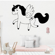 Free Shipping Unicorn Horse Vinyl Wallpaper Roll Furniture Decorative For Living Room Bedroom Decor Wall Decoration