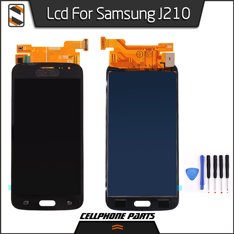 ФОТО LCD Display for Samsung Galaxy J2 2016 J210 J210F LCD Display Touch Screen with Digitizer Complete Assembly Replacement+Tools