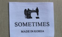 customized woven labels / any fold or cut as you like / size label S M L XL XXL / smooth ribbon / nice sewing