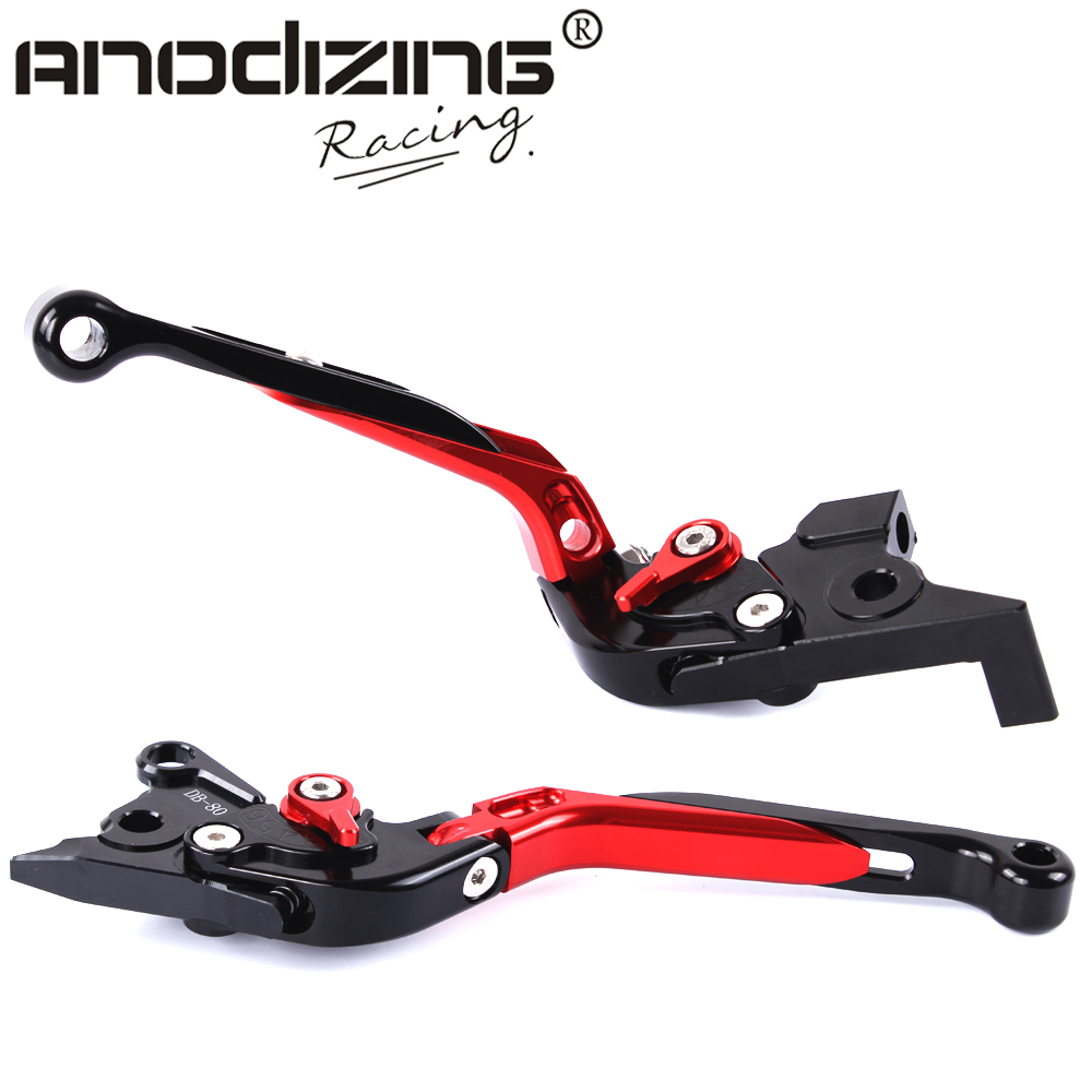 F-16 DC-80 Adjustable CNC 3D Extendable Folding Brake Clutch Levers For MOTO GUZZI Breva 1100 NORGE 1200/GT8V 6mm motorbike body work fairing bolts screwse for moto guzzi griso breva 1100 1200 gt8v 1200 sport kawasaki zx9r z1000sx z750