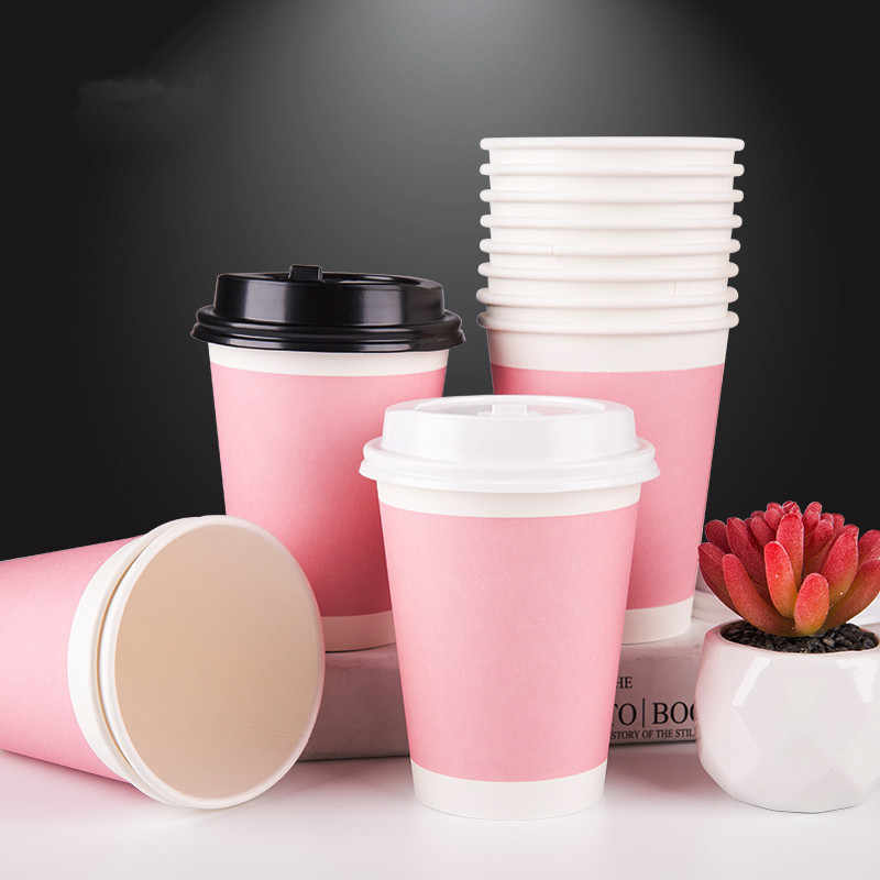 Pink Thicken Disposable Coffee Cup
