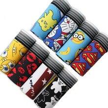 8Pcs \ veel Nieuwe Heren Ondergoed Boxer Polyester Homme Boxershorts Cartoon Print Comfortabele Underpants Soft Ademend Mannelijke Slipje