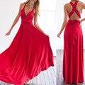 2016 Лето Sexy Women Maxi Dress Red Beach Длинные платья Повязки Многостороннего Конвертируемые Платья Бесконечность Wrap Одеяние Longue Femme Lady Dress