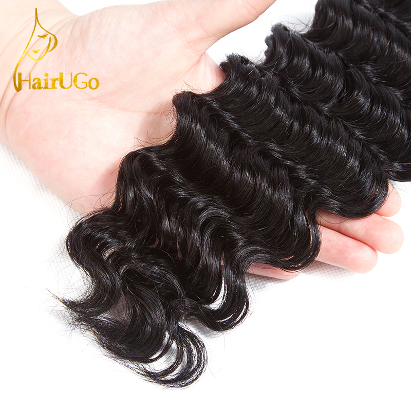 HairYou Pre-colored Malaysia Hair 100% Human Hair 4 Bundlar med - Mänskligt hår (svart) - Foto 4