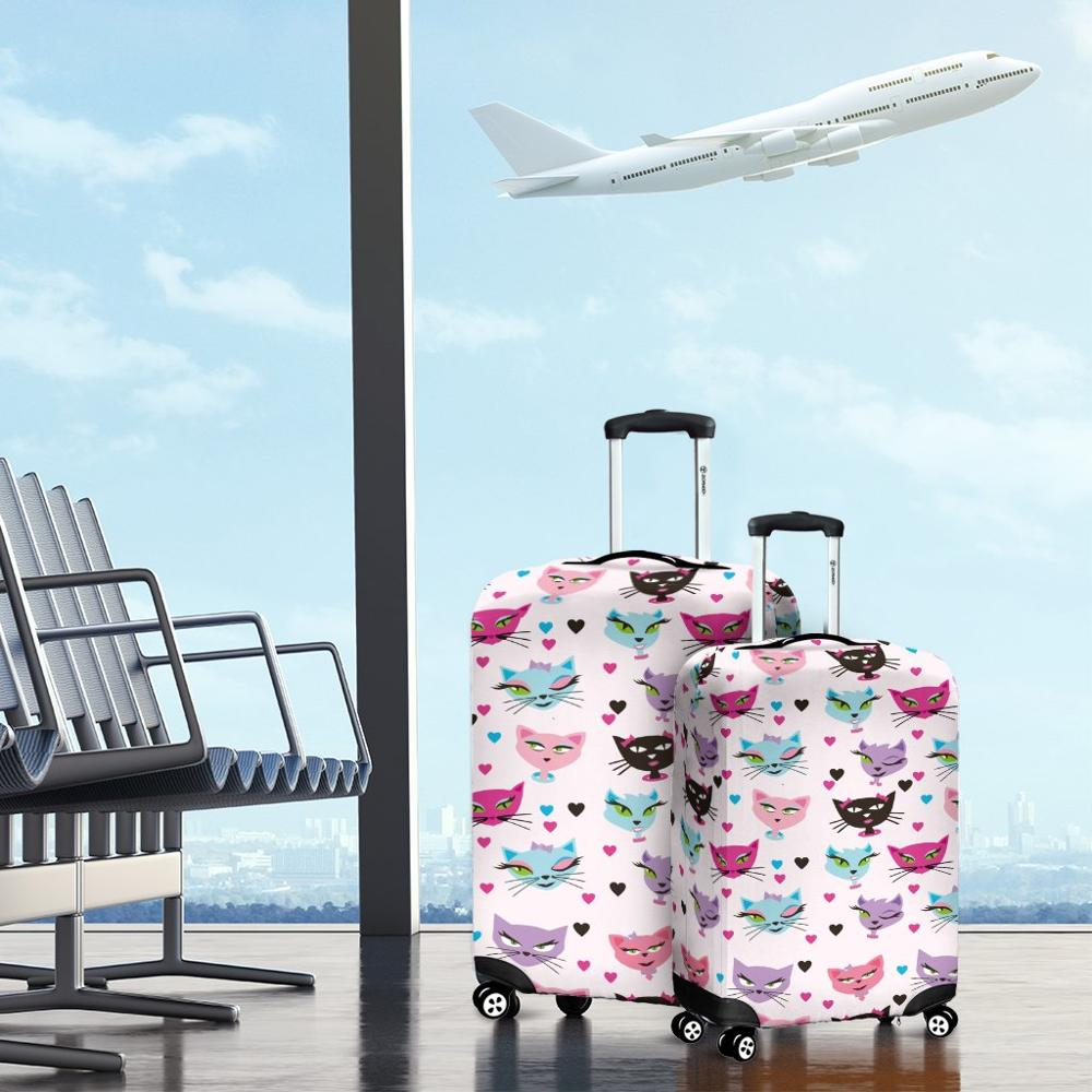 Travel Suitcase Protective Covers for Luggage Case Travel Accessories Elastic Luggage Dust Cover Apply to 18''-32'' Suitcase