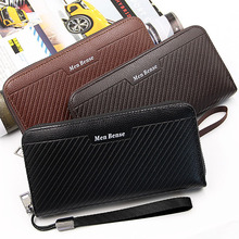цены на High Quality Korean fashion long slim men wallet zipper coin pocket pu leather business money purse phone Large Capacity clutch  в интернет-магазинах