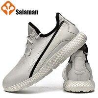 Саламан 2019 любимый натуральная кожаная спортивная обувь для Для мужчин Повседневное модные детские кроссовки человек бренд спортивные кро