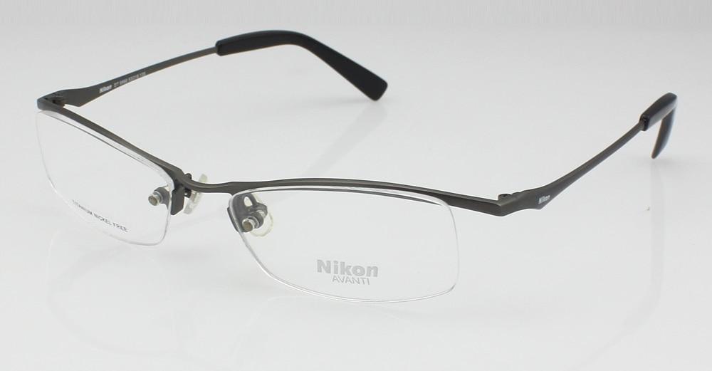 Pure titanium Half rimless optical eyeglasses eyewear men\'s glasses ...