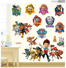 Animals Police Dogs Room Background Decoration PVC Home Decor 3D Paw Patrol Wall Waterproof Sticker Cartoon Removable Art Decals