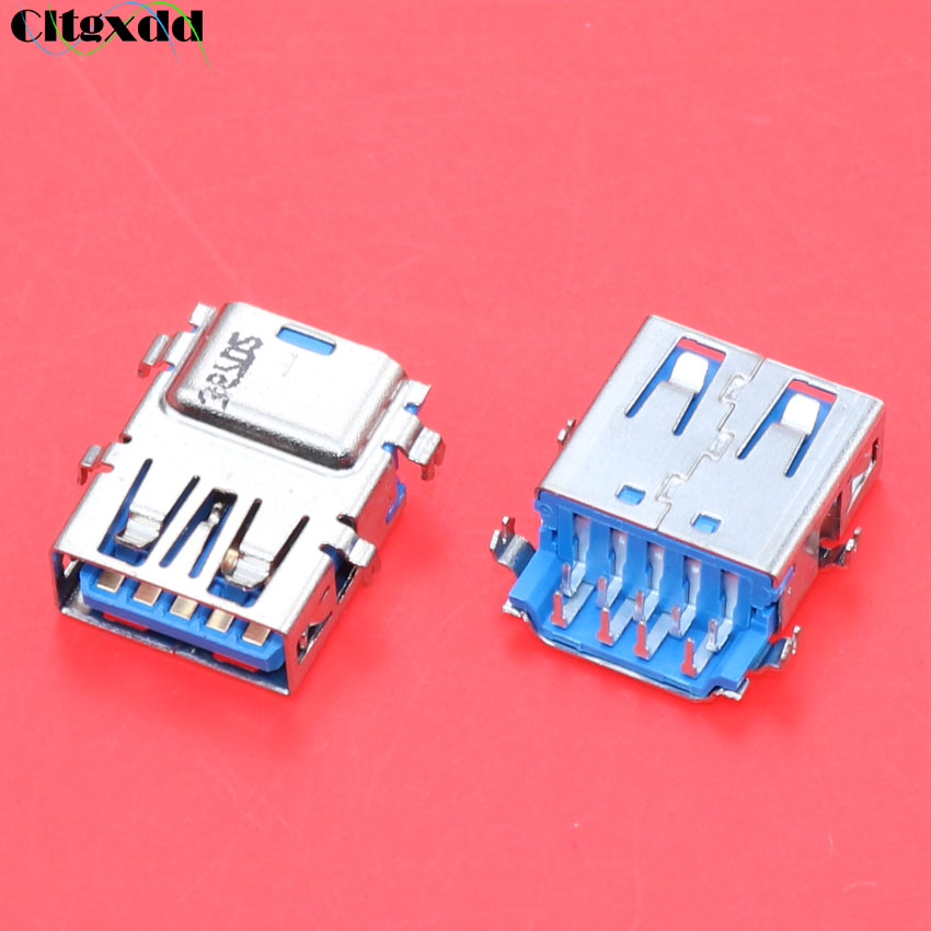US $2 4 10% OFF|cltgxdd 10pcs Female USB 3 0 Jack Connector suitable for  Lenovo Acer Asus laptop motherboard 3 0 interface cte-in Connectors from