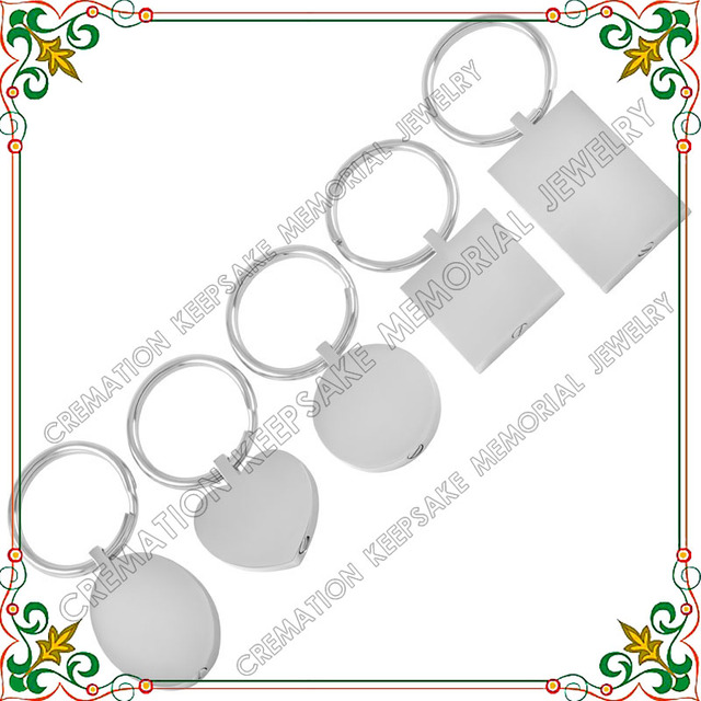 Keychain CMK2010 Five Style Of Sets Blank Tag Cremation Key Chains For Ashes Keepsake Jewelry  bunny keychain Charms llavero