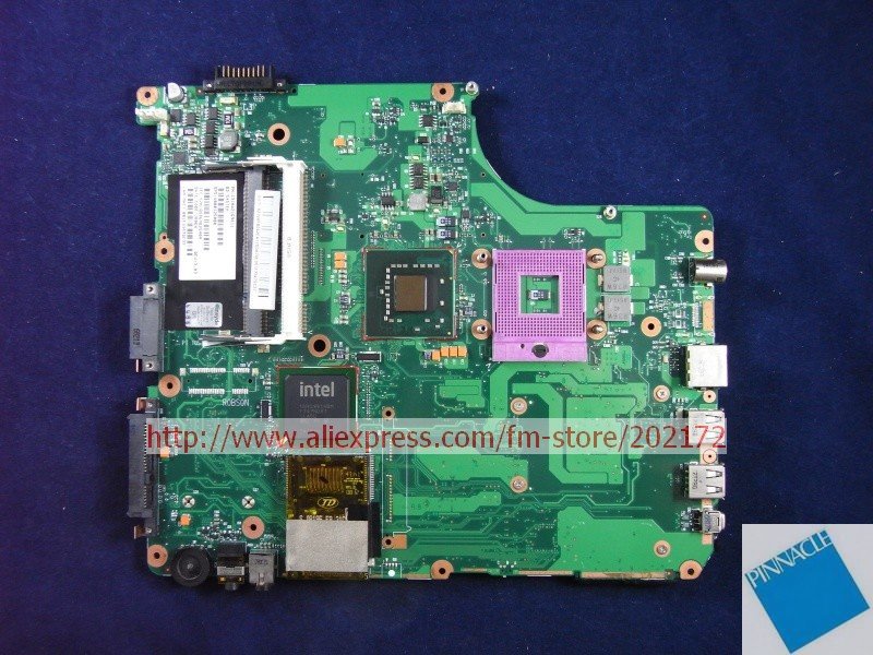 V000125000 Motherboard for Toshiba Satellite A300 A305 6050A2169401 nokotion sps v000198120 for toshiba satellite a500 a505 motherboard intel gm45 ddr2 6050a2323101 mb a01