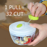 Kitchen Gadgets Fruit Vegetable Cutter Chopper Food Mortar Cooking Tools Creative Shredder Household Supplies Gifts
