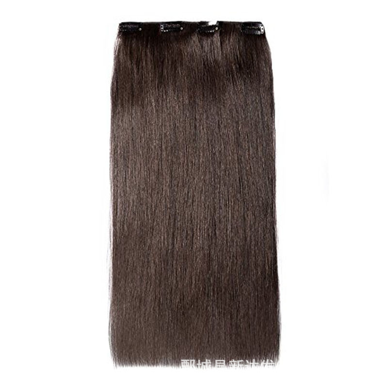 Sobeauty Full Head Clip in Human Hair Extensions dark brown Silky Straight Hair Machine Made Remy Brazilian Hair shedding free(China)