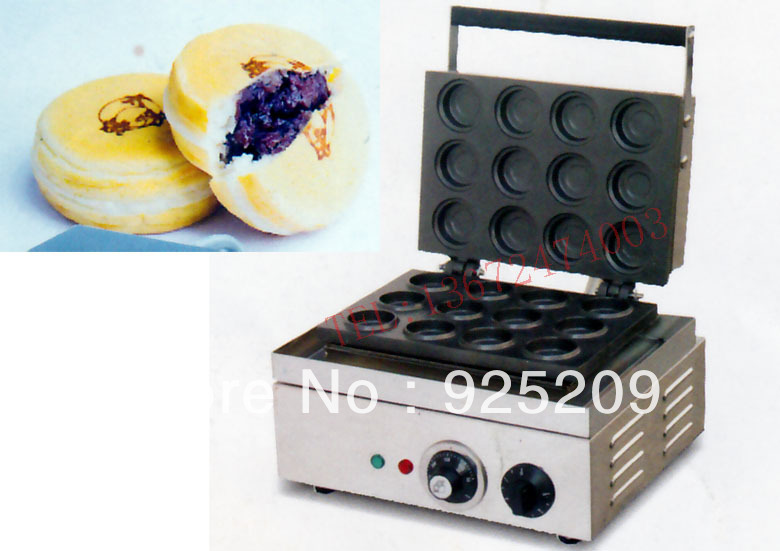 Free shipping Electric 12- hole cake baker/ waffle maker/ bean cake maker/  Breakfast Maker 1pc electric 220v 110v 6 hole round cake grill sweet donut maker electric for cake baker waffle maker