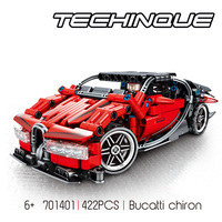 Speed champion racing technics building block racer figures Bugatti chiron pull back super sport car assemable toys for boys