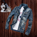 Denim Shirts Men Casual Shirt Long Sleeve New Design Slim Camisa Jeans Masculina Male Fashion Denim Shirts M-3XL Size
