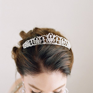 Image 2 - Bavoen Sparkling Zircon Bridal Tiaras Crowns Leaves Bridal Headbands Crystal Wedding Hair Accessories Evening Hair Jewelry