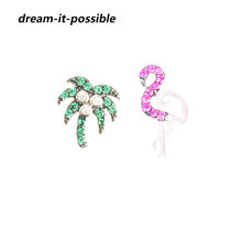 Dream-it-possible woman real 925 silver earrings with real stone Designer Pure Silver Animal tree earrings flamingo Jewelry(China)
