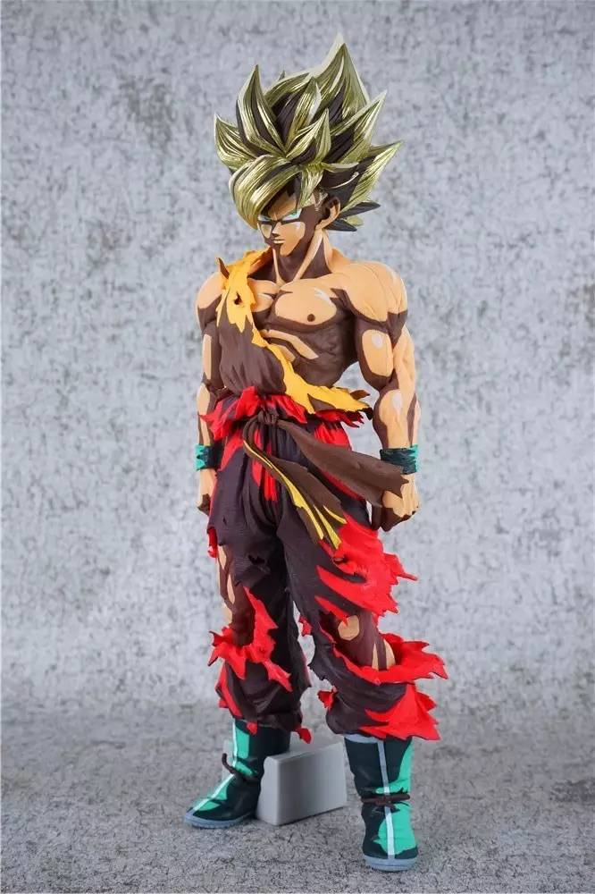 Anime Figure 32CM Dragon Ball Z Super SaiYan Son Goku Lunar New Year Color Limited Ver.  PVC Action Figure Collectible Model Toy anime dragon ball z son goku action figure super saiyan god blue hair goku 25cm dragonball collectible model toy doll figuras