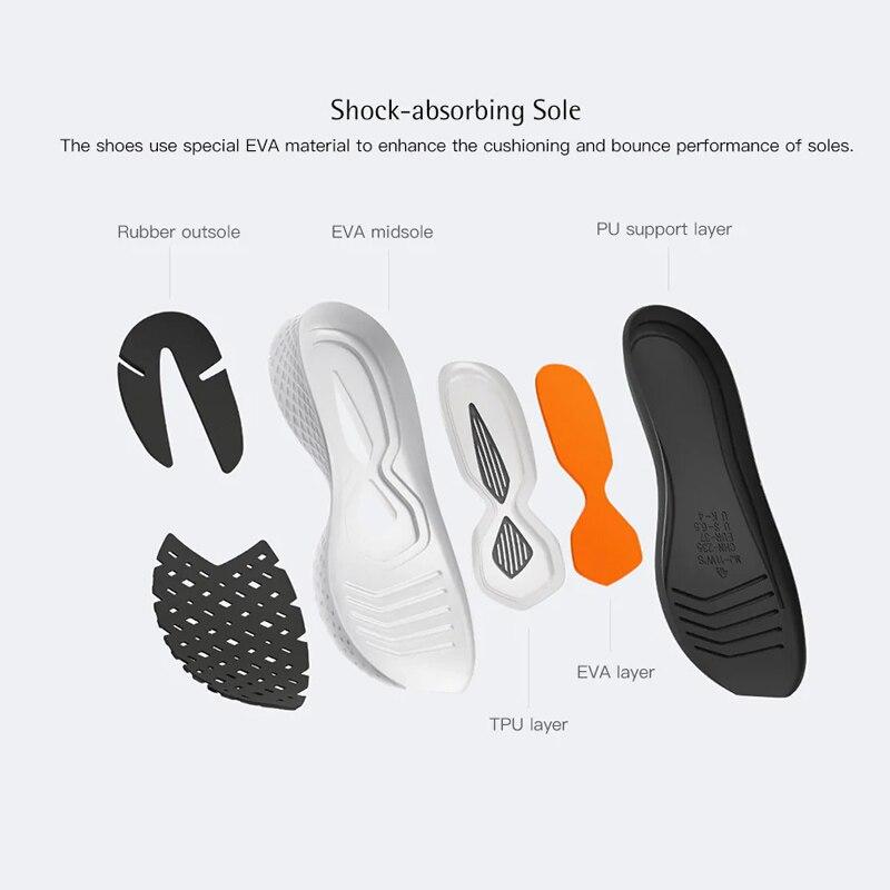 Chaussures d'origine Xiaomi Mijia 2 baskets Sport Uni-moulage Techinique système de verrouillage en arête de poisson empeigne à tricoter élastique pour hommes et femmes - 4