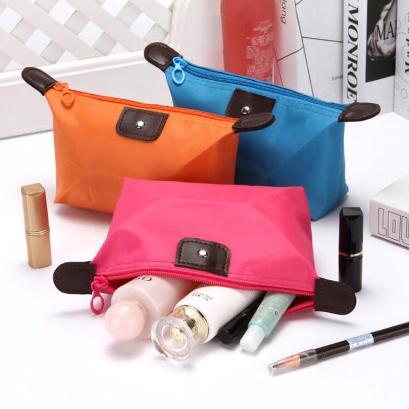 New Cute Dumplings Cosmetic Bag Candy Color Folding Dumplings Package Waterproof Storage Washing Cosmetic Bag